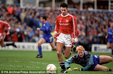 In the beginning: A teenage Giggs broke into the United team in 1991