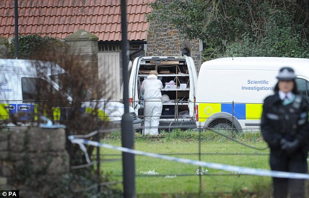 Forensic teams were called in after Mr Suddards was found soon after 10am on Monday