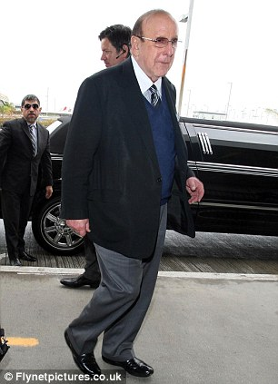 Support: Music Executive and record producer Clive Davis arriving for a flight at LAX airport in Los Angeles, CA
