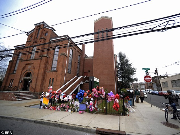 Childhood: The New Hope Baptist Church in Newark, New Jersey, is inundated with tributes