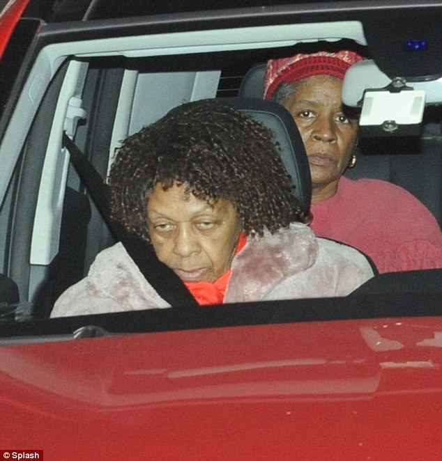 Sad times: A somber-looking Cissy Houston leaves the Whigham Funeral Home in the early morning hours of Tuesday