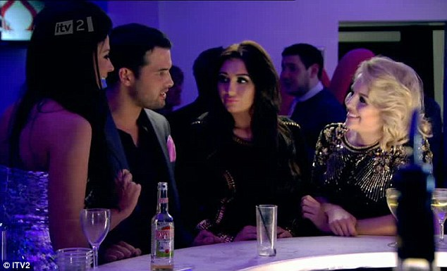 Man in the middle: Ricky Rayment was surrounded by girls at the Valentine's party