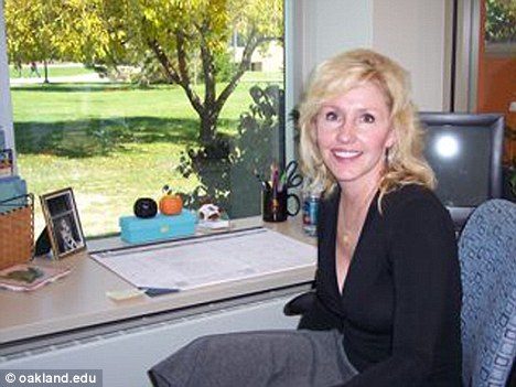 Teacher: The countertop refinisher based the assignment about Pamela Mitzelfeld, 49, pictured, on the 1984 song Hot for Teacher by rock band Van Halen
