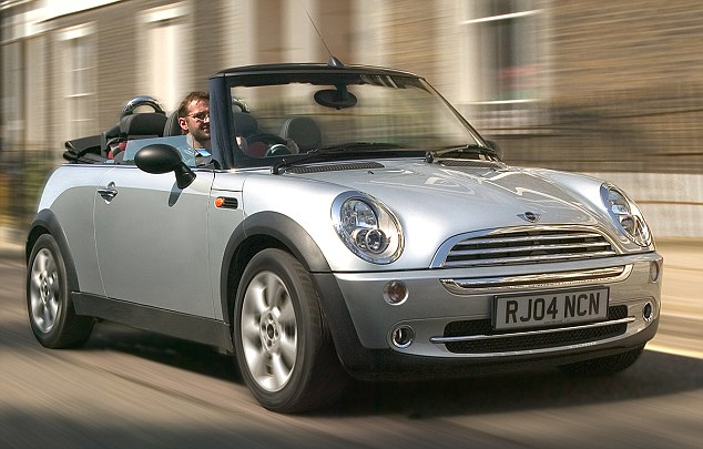 Maximum value: The BMW-owned Mini One Convertible was judged the cheapest open-top model to keep