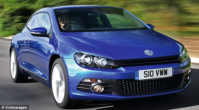 Top deal: VW also came up trumps in the coupe category with the Scirocco, which costs around £15,700 to run over a three-year period