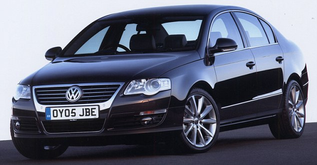 Leading the way: The Volkswagen Passat is the most cost-effective family car, according to the new study