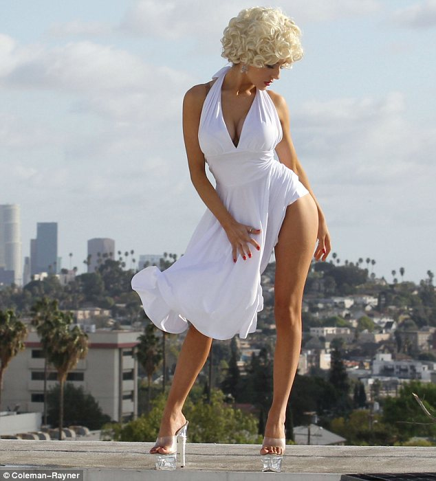 Perfect fit: Courtney found out her hands and feet are a match for Marilyn's last year