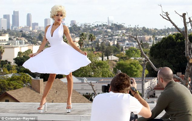 Resemblance: Courtney's white dress was very similar to Marilyn's with its halterneck and full skirt