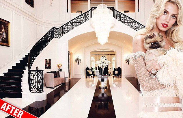 Petra Ecclestone has refurbished the $85million home in LA she bought with husband James Stunt last year