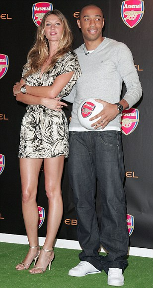 Gisele Bundchen and Thierry Henry