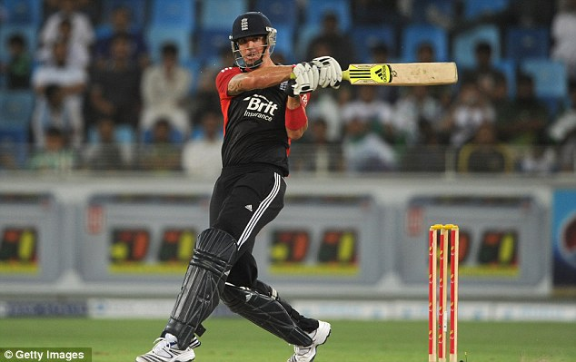 Back in business: England's Kevin Pietersen answered his critics in Dubai