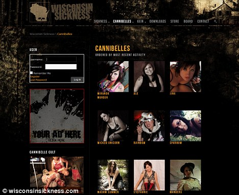 Dark: It writes about serial killers, ghosts, porn shops and heavy metal music. A section called Cannibelles features scantily-clad women. There is no nudity on the site