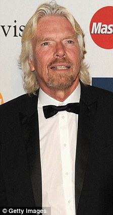 Happy: Sir Richard Branson