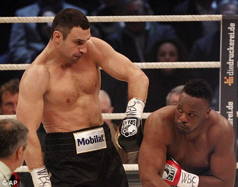 Ducking and diving: Chisora gave the champion a tough fight in Munich