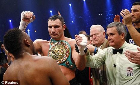 Defence: Vitali Klitschko remains the WBC heavyweight champion