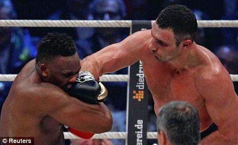 Thump: Dereck Chisora took Klitschko all the way but lost on points