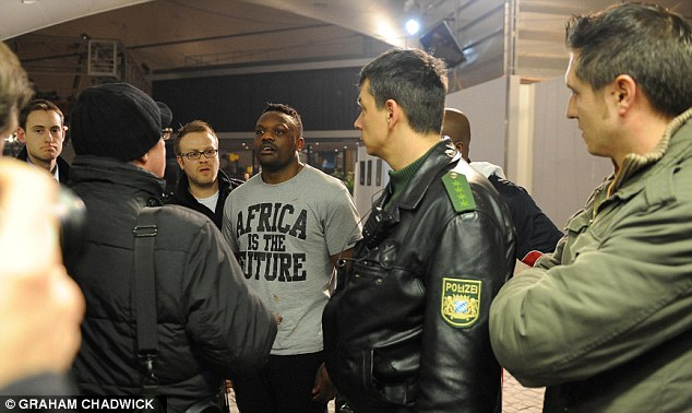 Detained: German police keep a close eye on Chisora