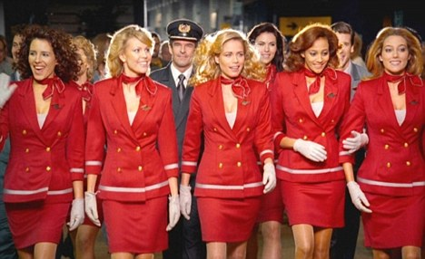 Happy: Virgin said it was 'delighted' that it appeared to be Steve Hilton's carrier of choice. This is an image from one of the airline's adverts