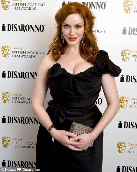 Christina Hendricks arriving at the official Disaronno after-party at Grosvenor House after the Bafta awards in London