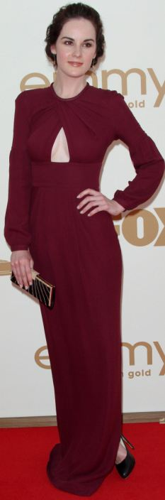 Set to hit the bigtime: Michelle Dockery pictured in September last year at the Emmy Awards