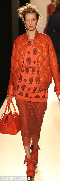 The collection was shot through with bold tones of tangerine and burnt orange