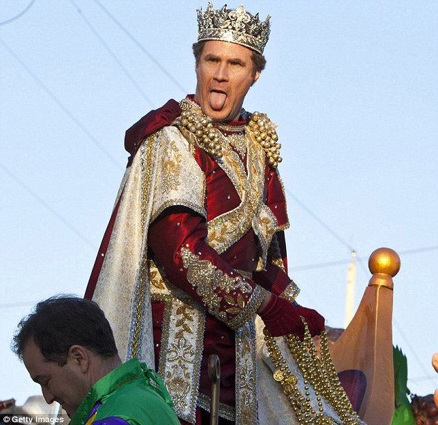 The latest Bacchus: Drew Brees, Nicolas Cage and Elijah Wood have all appeared as Bacchus in this parade before