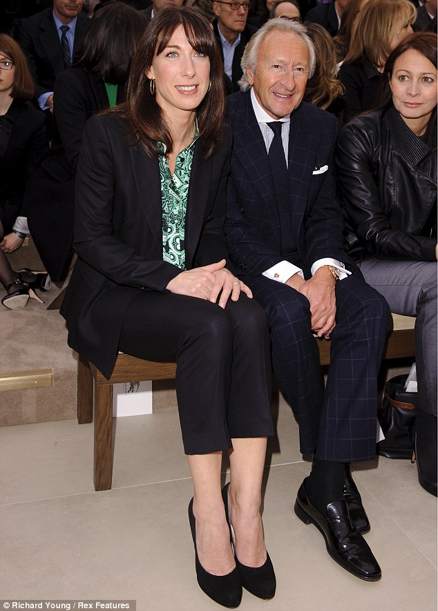 Samantha Cameron pictured with Harold Tillman at the Burberry presentation in west London
