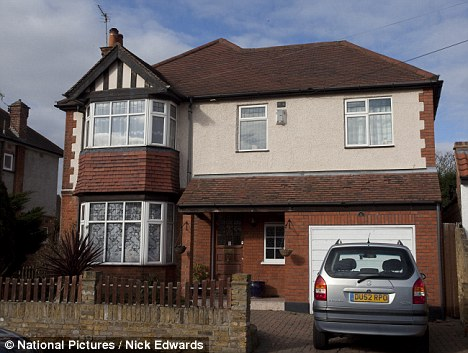 Home: Police guarded this home for 24 hours a day for a week following Mrs Ryan's death