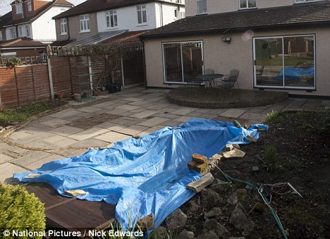 Sheeted: The pond where Jean Ryan drowned in, in Hampton Hill in south west London