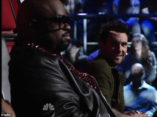 Did he really just say that? Why yes Adam Levine, Cee Lo did just tell you to get a room