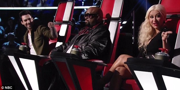 The instigator in the middle: Cee Lo is always making cheeky sexual comments