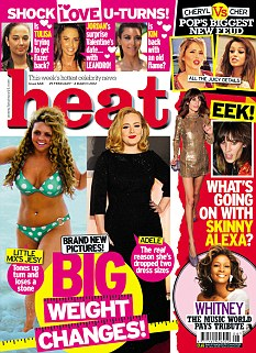 The full interview appears in this week's heat magazine, out now