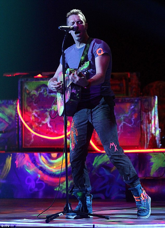 Top act: Winners of the Best British Group Coldplay gave it all they had during their set