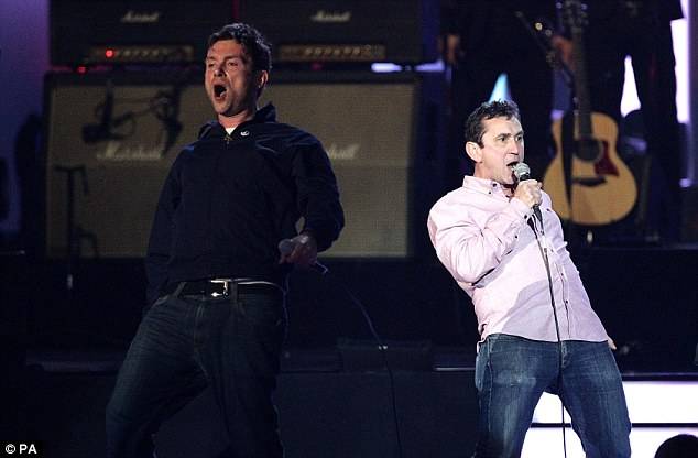 ...and as a special treat actor Phil Daniels joined them on stage to perform their hit track Park Life