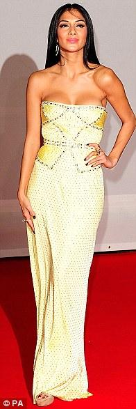 Flying the flag: Lana Del Rey, Rihanna and Nicole Scherzinger shone at tonight's Brit Awards