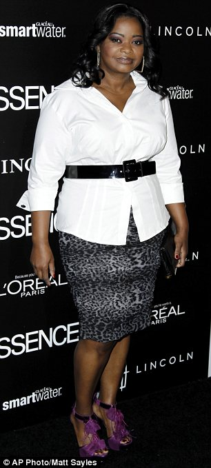 Celebrating their success: The Help stars Viola Davis (L) and Octavia Spencer are both nominated for gongs at Sunday's Oscars