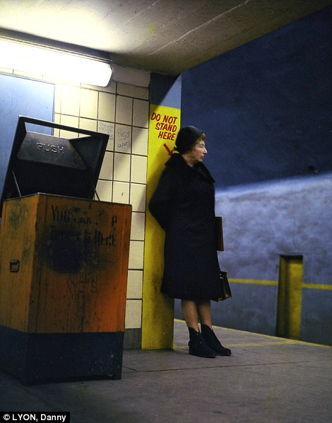 Nostalgic: A woman waits for her train in the New York subway, 1966