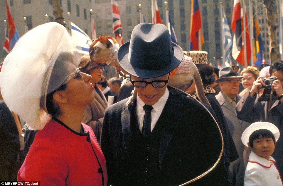 Easter Parade: City dwellers dress in their Sunday best as they spill into Rockefeller Center in 1964