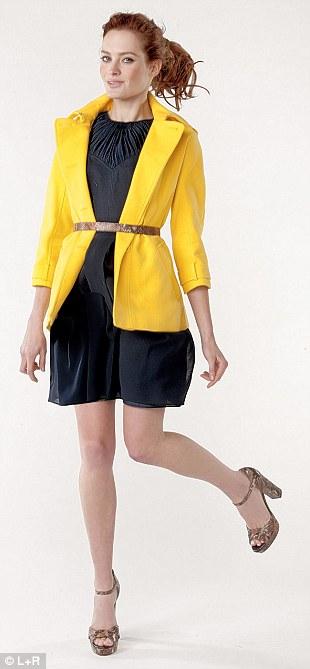 Yellow cropped trench £299, jaeger.co.uk. Ted Baker dress £149, johnlewis.com. Platform snake print sandals £225, and belt, £95, lkbennett.com