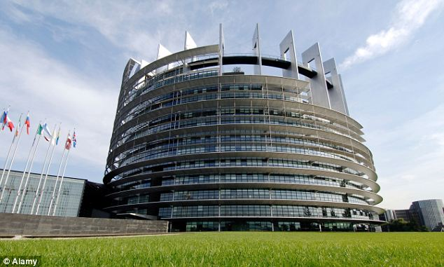 Nice work if you can get it: The European parliament in Strasbourg, France. British MEPs earn around £80,000 in wages each year, depending on euro exchange rates