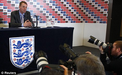 In the spotlight: Pearce takes charge of England for the first time - as caretaker boss - against Holland next week