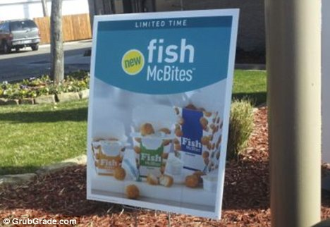 On sale: Fish McBites were spotted at a McDonald's in Fort Worth, Texas