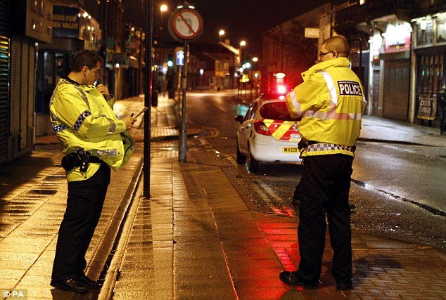 It is believed Asian takeaway businesses were target in the disorder that saw officers attacked with bottles and other missiles