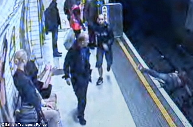 The attacker risked his victim's life in two ways: She could have been electrocuted by the track's live middle wire, or she could have been hit by an oncoming train