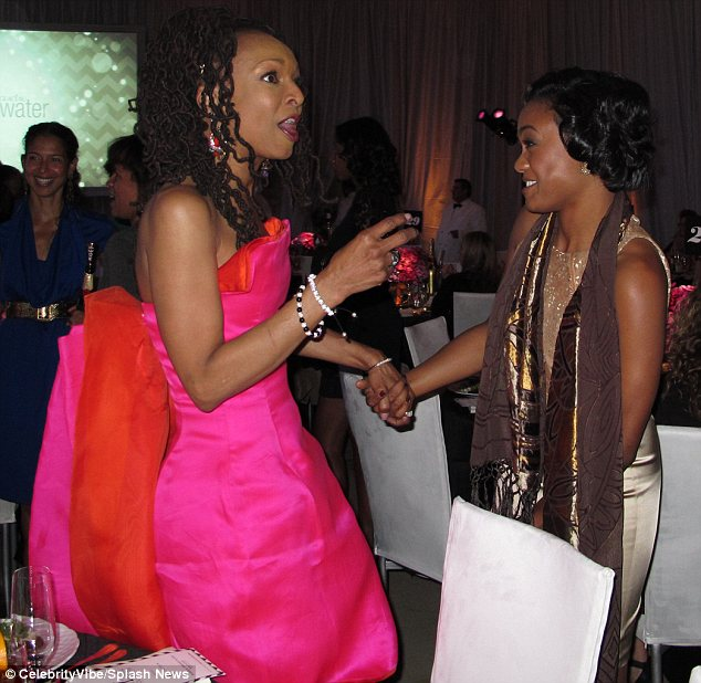 I wanna hold your hand: Siedah Garrett and Tatyana Ali appeared to be having a fantastic time