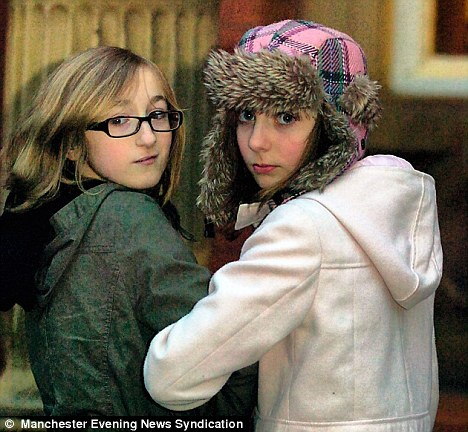 Ashleigh Robinson (left) and Emily Downs were told they could not spend the afternoon at Salford Museum and Art Gallery 'for their own safety'