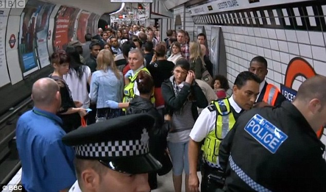Trains were cancelled for the rest of the evening as the Northbound platform became a crime-scene