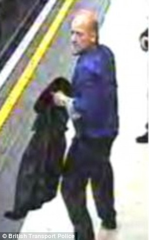 Do you know this man? British Transport Police are keen to trace the suspect