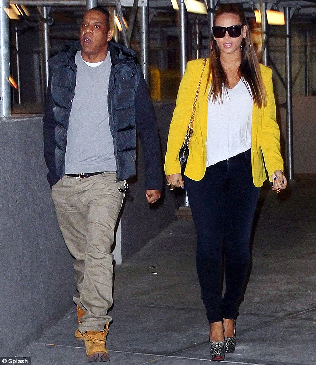 New parents: Jay-Z and wife Beyonce stepped out to attend a Knicks game earlier this week
