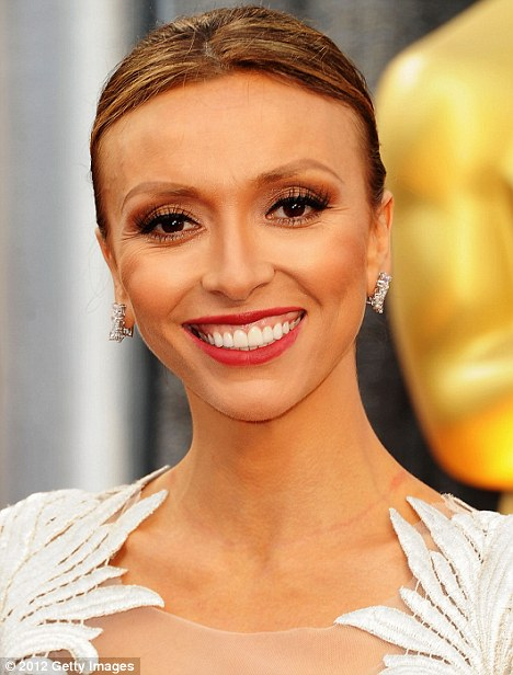 Ready to go: Giuliana Rancic looked angelic as she arrived at the 84th Annual Academy Awards held at the Hollywood & Highland Centre today